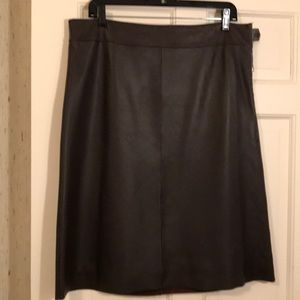 Siena Studio A-line genuine leather skirt